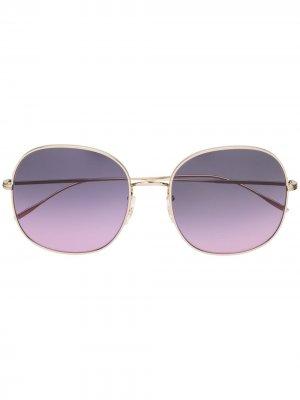 Солнцезащитные очки в массивной оправе Oliver Peoples. Цвет: золотистый