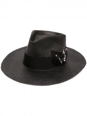 Шляпа-федора Midnight Nick Fouquet. Цвет: серый