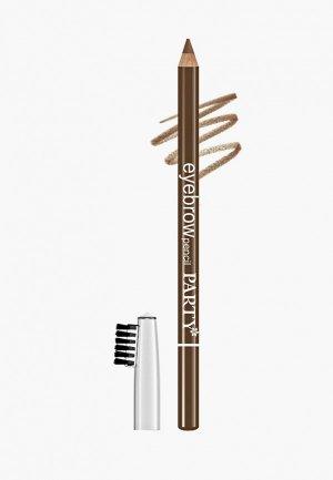 Карандаш для бровей BelorDesign. Цвет: коричневый