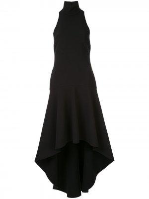 Платье Bahar с оборками на подоле Solace London. Цвет: черный