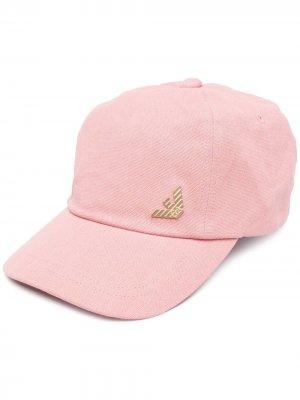 Бейсболка с логотипом Ea7 Emporio Armani. Цвет: розовый