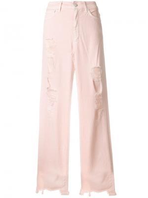 Юбка макси с разрезом Dondup. Цвет: розовый
