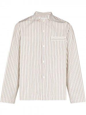 Пижамная рубашка TEKLA. Цвет: белый