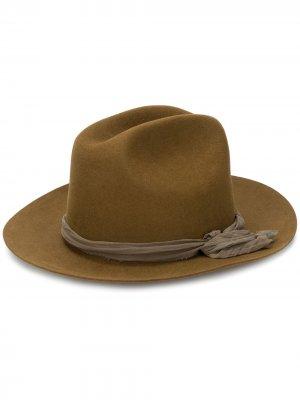 Фетровая шляпа-федора Super Duper Hats. Цвет: нейтральные цвета