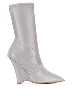 Ботильоны-носки Yeezy. Цвет: серый