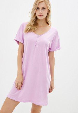 Сорочка ночная Gap. Цвет: розовый