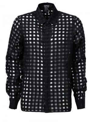 Прозрачная рубашка в сетку Ann Demeulemeester. Цвет: чёрный