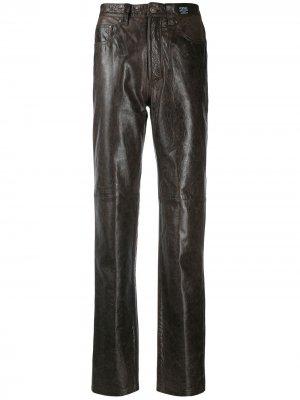 Брюки кроя слим Versace Pre-Owned. Цвет: коричневый