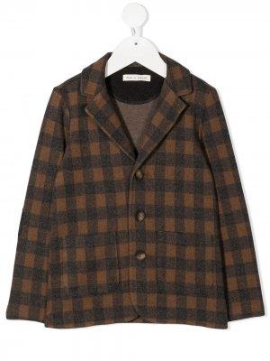 Однобортный пиджак в клетку Zhoe & Tobiah. Цвет: коричневый