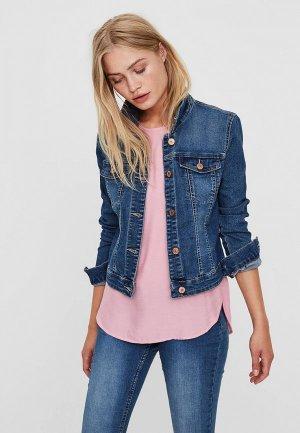Куртка джинсовая Noisy May. Цвет: синий