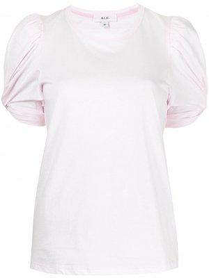 Футболка Kati с оборками A.L.C.. Цвет: розовый