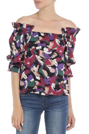 Блузка Rocawear. Цвет: черный