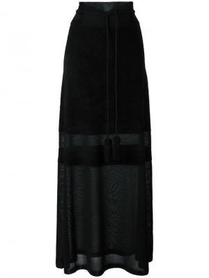Удлиненная полупрозрачная юбка Antonio Marras. Цвет: чёрный