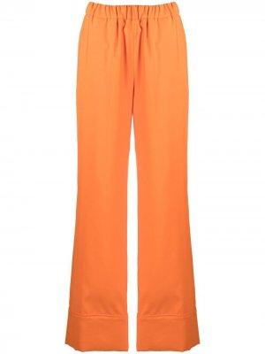 Широкие брюки PJ Sara Battaglia. Цвет: оранжевый