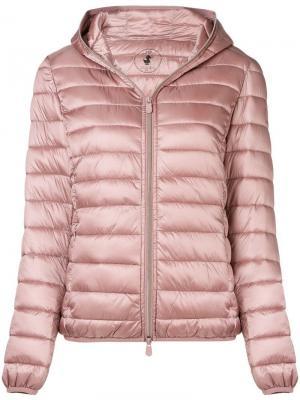 Утепленная куртка Save The Duck. Цвет: розовый