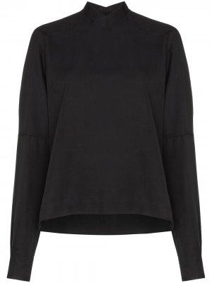 Блузка с V-образным вырезом Carcel. Цвет: черный