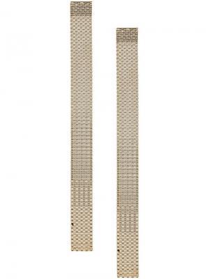 Длинные серьги с цепочками Krizia. Цвет: золотистый