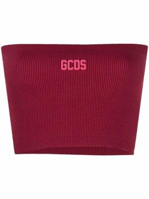 Топ-бандо в рубчик Gcds. Цвет: красный