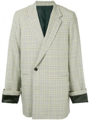 Checked print oversized jacket Wooyoungmi. Цвет: разноцветный
