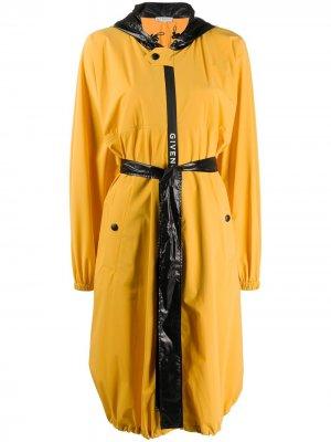Плащ с капюшоном и поясом Givenchy. Цвет: желтый