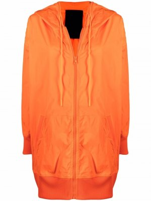 Легкая куртка оверсайз с капюшоном RED Valentino. Цвет: оранжевый
