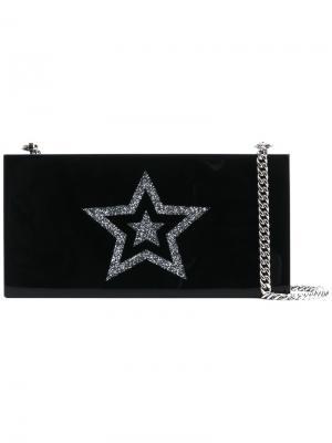 Клатч-бокс с элементом звезды Stella McCartney. Цвет: черный