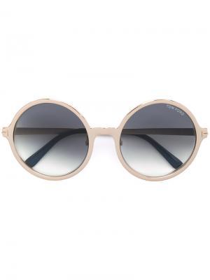 Солнцезащитные очки AVA-02 Tom Ford Eyewear. Цвет: металлик