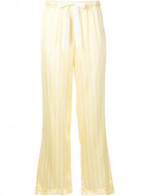 Пижамные брюки Chantal в полоску Morgan Lane. Цвет: желтый