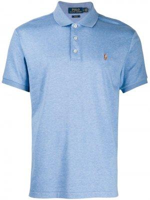 Рубашка-поло с вышитым логотипом Polo Ralph Lauren. Цвет: синий