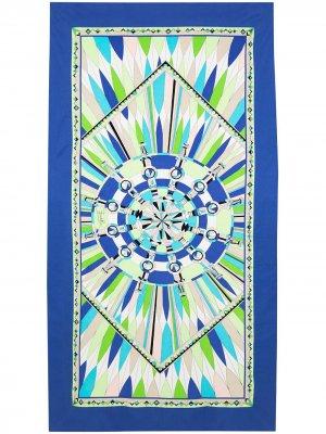 Пляжное полотенце Emilio Pucci. Цвет: зеленый
