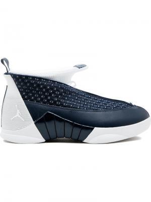 Кроссовки Air  15 Retro Jordan. Цвет: синий
