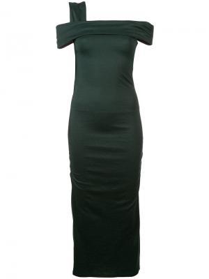 Приталенное коктейльное платье Dvf Diane Von Furstenberg. Цвет: зеленый