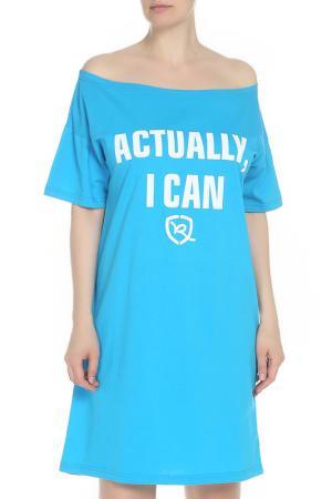 Платье Rocawear. Цвет: бирюзовый