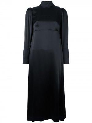 Платье с цветочной вышивкой Simone Rocha. Цвет: черный