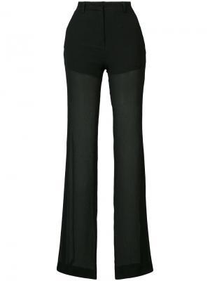Полупрозрачные брюки Vionnet. Цвет: черный