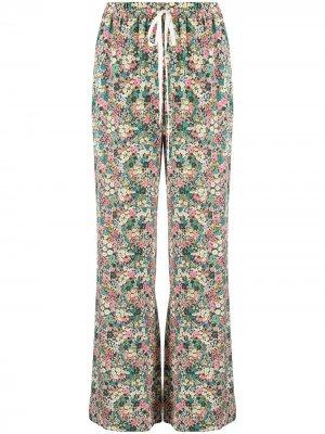 Расклешенные брюки с завышенной талией See by Chloé. Цвет: зеленый