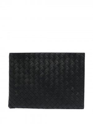 Папка для документов с плетением Intrecciato Bottega Veneta. Цвет: черный