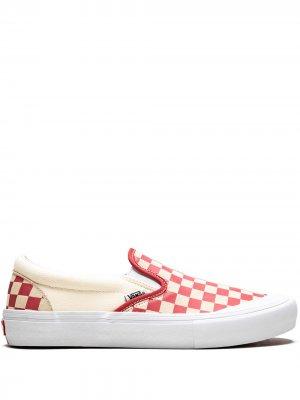 Слипоны Slip-On Pro Vans. Цвет: белый/mineral red
