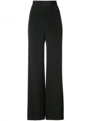 Широкие брюки с завышенной талией Marchesa. Цвет: черный