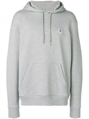 Safter hoodie Diesel. Цвет: серый