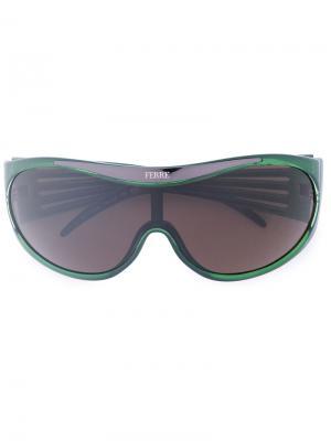 Солнцезащитные очки с логотипом Gianfranco Ferré Pre-Owned. Цвет: зеленый