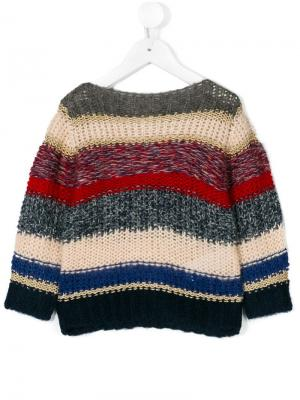 Вязаный свитер в полоску American Outfitters Kids. Цвет: разноцветный