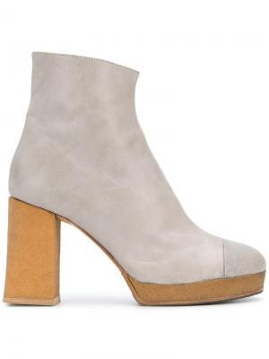 Platform ankle boots Chalayan. Цвет: серый