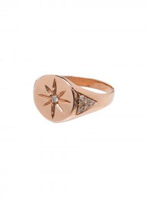 Перстень из розового золота Jacquie Aiche. Цвет: розовый
