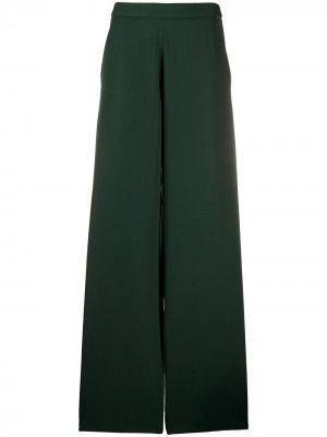 Расклешенные брюки с завышенной талией Société Anonyme. Цвет: зеленый