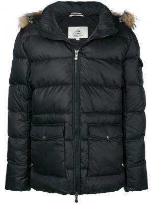 Hooded parka coat Pyrenex. Цвет: черный