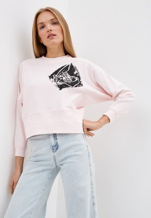 Свитшот Vivienne Westwood Anglomania. Цвет: розовый