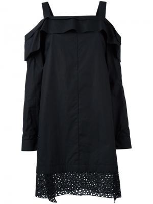 Платье с открытыми плечами Proenza Schouler. Цвет: черный