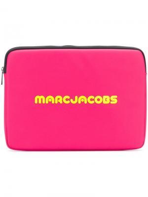 Чехол для ноутбука с принтом Marc Jacobs. Цвет: розовый