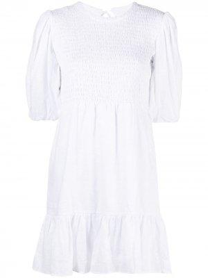 Платье с эластичными вставками Faithfull the Brand. Цвет: белый